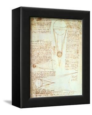 Studies of the Illumination of the Moon, Fol. 1R from Codex Leicester, 1508-1512 by Leonardo da Vinci