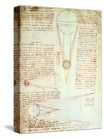 Studies of the Illumination of the Moon, Fol. 1R from Codex Leicester, 1508-1512