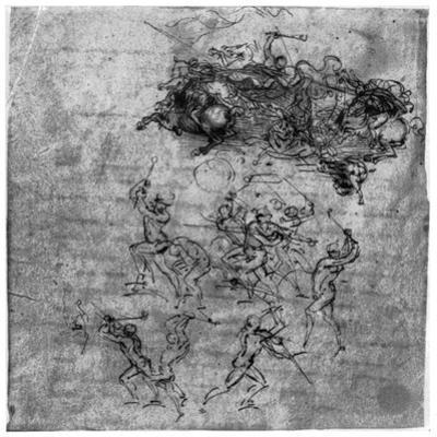 Study for the Battle of Anghiari, 1503 by Leonardo da Vinci