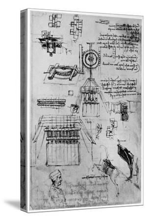 Study for the Casting of the Sforza Monument, C1493 by Leonardo da Vinci