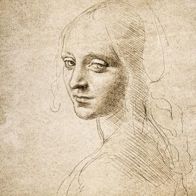 Study for the Head of a Girl, c.1483 by Leonardo da Vinci