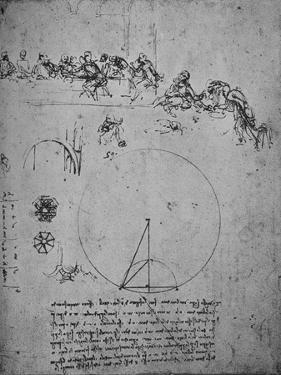 'Study for the Last Super and Mathematical Figures and Calculations', c1480 (1945) by Leonardo Da Vinci
