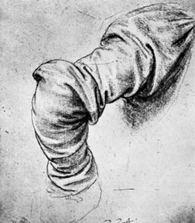 Study for the Sleeve of the Right Arm of St Peter, 15th Century by Leonardo da Vinci