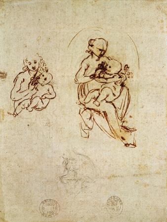 Study for the Virgin and Child, C.1478-1480 by Leonardo da Vinci