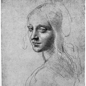 Study of a Girl's Head, C1483 by Leonardo da Vinci