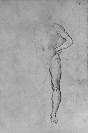 'Study of a Nude Man with his Left Hand on His Hip', c1480 (1945) by Leonardo Da Vinci