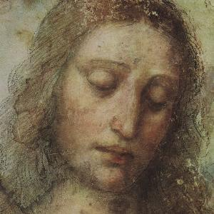 Study of Christ for Last Supper (detail) by Leonardo da Vinci