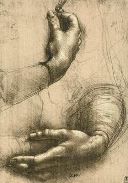 Study of Female Hands, Drawing, Royal Library, Windsor by Leonardo da Vinci