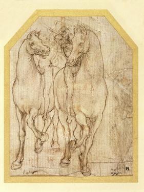 Study of Horses and Riders, C.1480 by Leonardo da Vinci