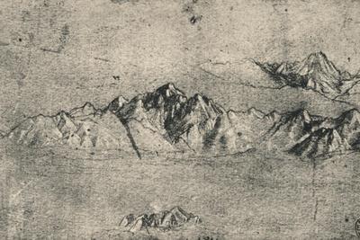 'Study of Mountain Ranges', c1480 (1945)
