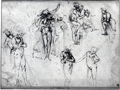 Study of Nude Men by Leonardo da Vinci