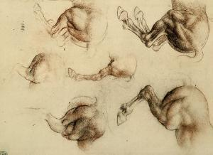 Study of Running Horses, Drawing, Royal Library, Windsor by Leonardo da Vinci