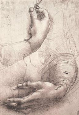Leonardo da Vinci (Study of women's hands) Art Poster Print