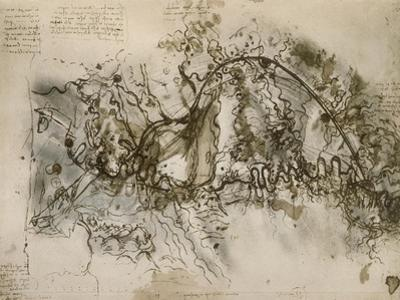 The Arno River and the Valley of Florence with the Lake of Bientina and the Fucecchio Marshlands by Leonardo da Vinci