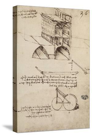 The Ideal City, View of a Building, Housed at the Institut De France, Paris by Leonardo da Vinci
