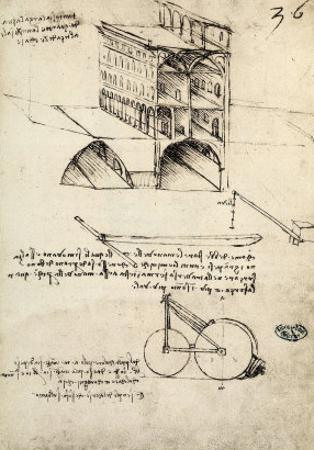 The Ideal City, View of a Building, Housed at the Institut De France, Paris by Leonardo da Vinci
