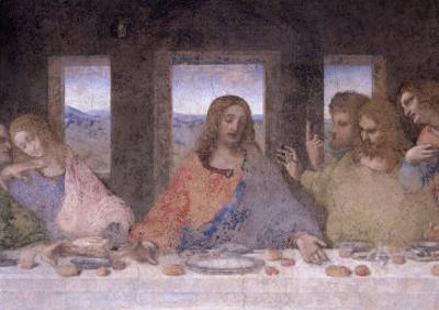 The Last Supper, 1495-97 (Post Restoration) by Leonardo da Vinci