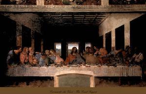 The Last Supper, 1498 (post-restoration) by Leonardo da Vinci