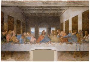 Leonardo Da Vinci (The Last Supper) Art Poster Print Art Poster Print