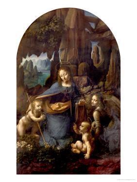 The Virgin of the Rocks (With the Infant St. John Adoring the Infant Christ) circa 1508 by Leonardo da Vinci