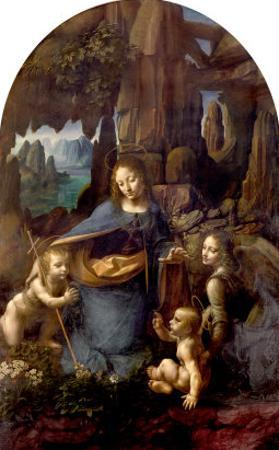The Virgin of the Rocks (With the Infant St. John Adoring the Infant Christ) circa 1508 by Leonardo da Vinci