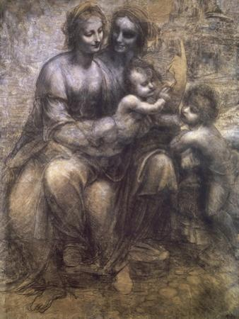 Virgin and Child with St. Anne and Infant by Leonardo da Vinci