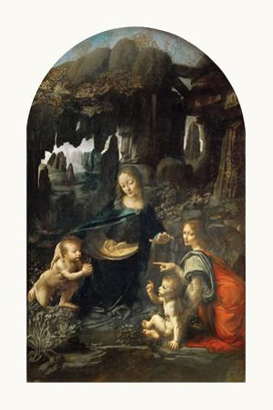 Virgin of the Rocks, 1483 - 1486 by Leonardo Da Vinci