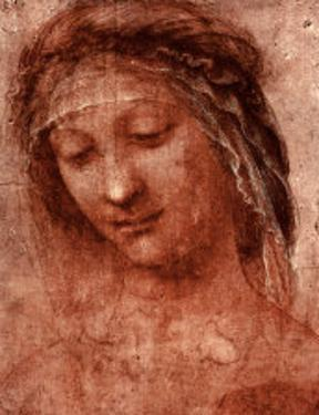 Woman's Head Study by Leonardo da Vinci