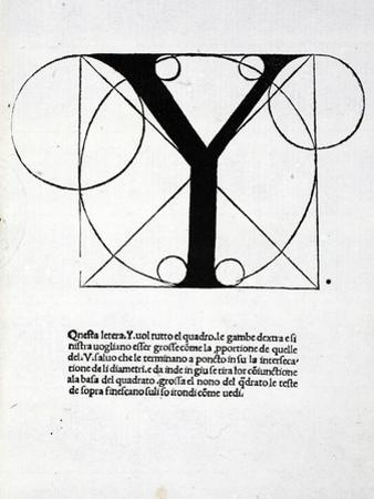 Y, Illustration from 'Divina Proportione' by Luca Pacioli (C.1445-1517), Originally Pub. Venice,… by Leonardo da Vinci