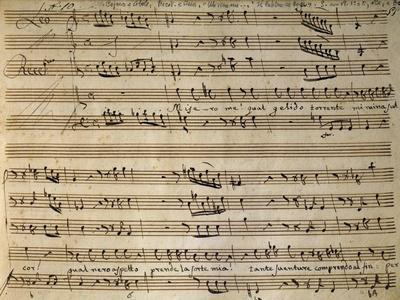 Autograph Music Score of Cain and Abel