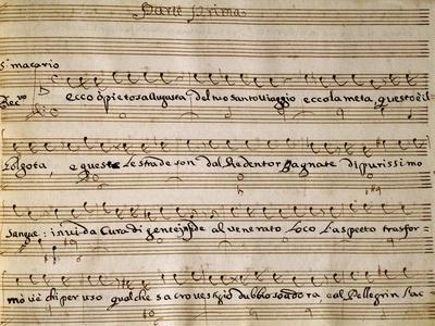 Autograph Music Score of Saint Helena at Calvary Oratorio, 1734