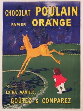 Advertisement for Chocolat Poulain Papier Orange, C. 1910