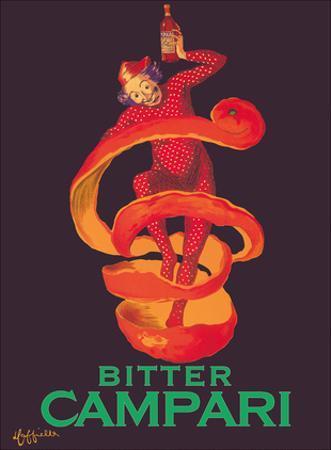 Bitter Campari Aperitif - Clown Wrapped in Orange Peel by Leonetto Cappiello