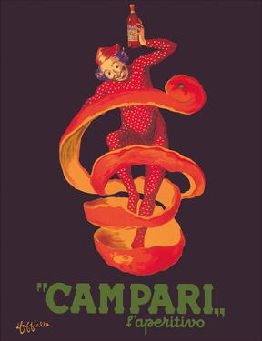 Campari L'Aperitivo (Campari Aperitif) - Clown Wrapped in Orange Peel by Leonetto Cappiello