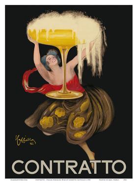 Contratto - Italian Sparkling Wine Champagne - Belle Époque Art by Leonetto Cappiello