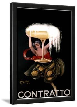 Leonetto Cappiello Contratto Vintage Ad Art Print Poster