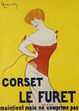 Corset le Furet, 1901 by Leonetto Cappiello