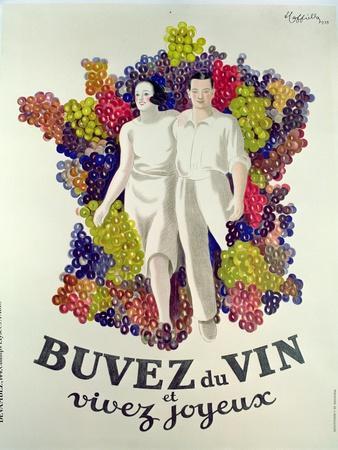 Drink Wine, Live Joyfully', Poster Promoting Wine, 1933