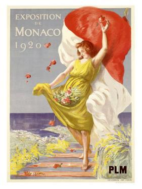 Exposition de Monaco, 1920 by Leonetto Cappiello