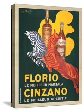 Florio e Cinzano, 1930 by Leonetto Cappiello