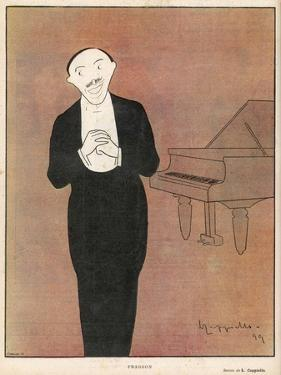 Fragson Stands in Front of His Piano by Leonetto Cappiello