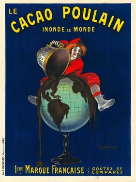 Le cacao Poulain inonde le monde, 1911 by Leonetto Cappiello