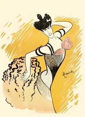 Louise Balthy - Folies Bergère by Leonetto Cappiello