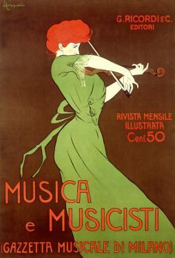 Musica e Musicisti by Leonetto Cappiello