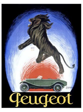 Peugeot by Leonetto Cappiello