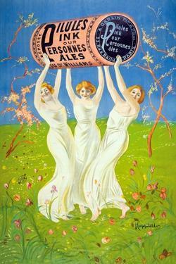Pilules Pink pour personnes pâles, 1910 by Leonetto Cappiello