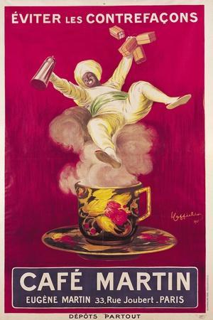Poster Advertising 'Cafe Martin', 1921