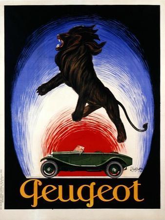 Poster Advertising Peugeot, 1925