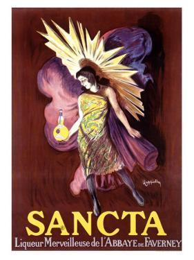 Sancta, Liqueur Merveilleuse by Leonetto Cappiello
