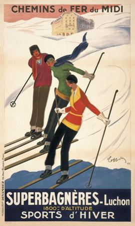 Superbagneres-Luchon, Sports d'Hiver by Leonetto Cappiello